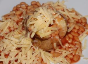 Potato, beans and cheese